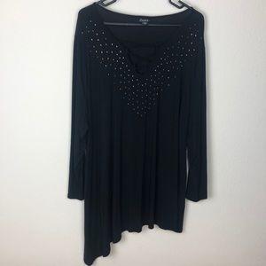 Simply Emma women's 3X asymmetrical beaded tunic